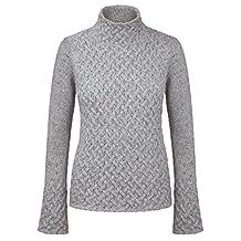 Ladies 100% Irish Merino Cashmere Wool Sweater with Trellis Stitching