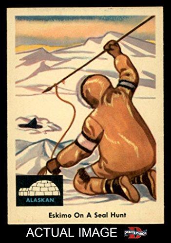 1959 Fleer Indian # 70 Eskimo on seal hunt (Card) Dean's Cards 7 - NM 1509643 ()