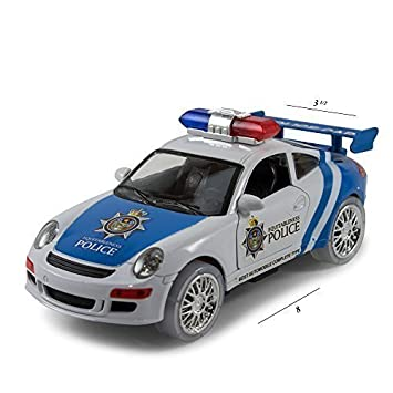 kidsthrill justice team police car kids bump and go action toy car bright flashing