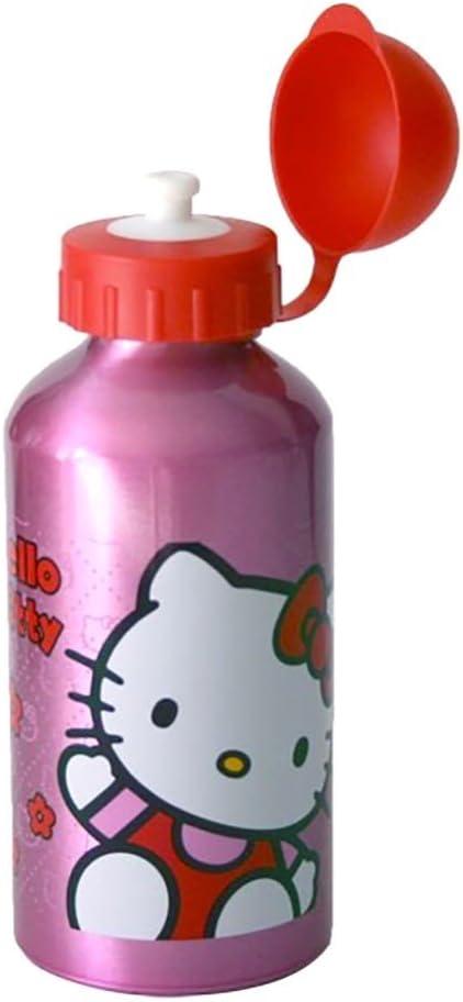 Botella Hello Kitty Girls Pink & Red de agua de aluminio