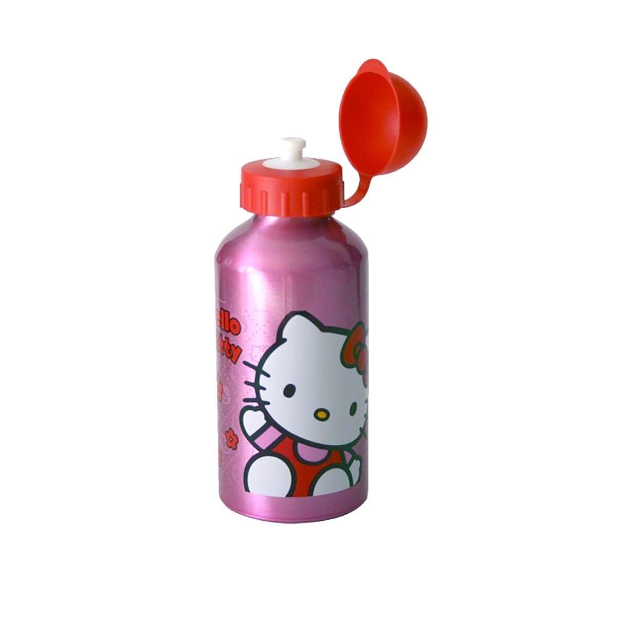 Botella Hello Kitty Girls Pink /& Red de agua de aluminio