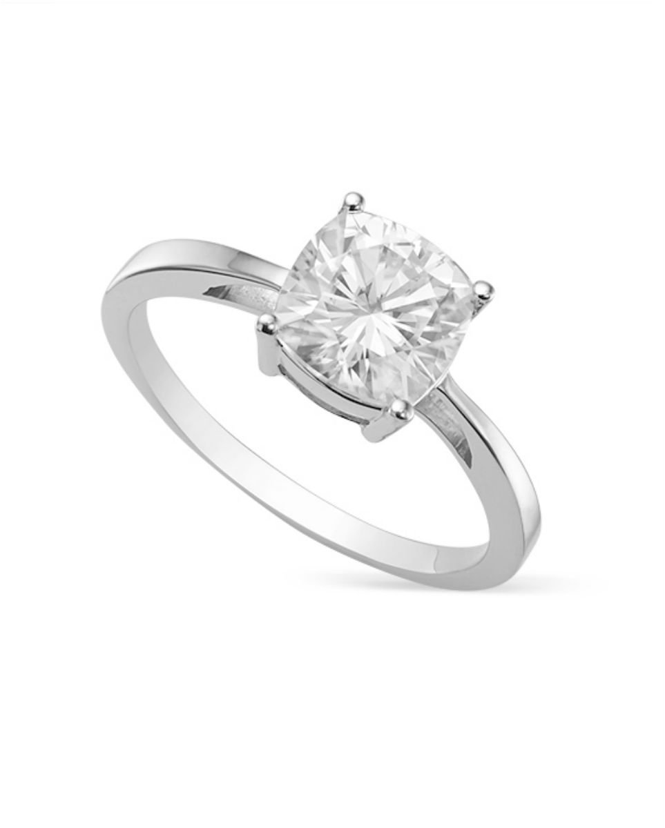 Forever Brilliant 4.5mm Moissanite Solitaire Engagement Ring - size 5, 0.50ct DEW By Charles & Colvard