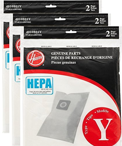 - Hoover Type Y HEPA Bag (6-Pack), AH10040