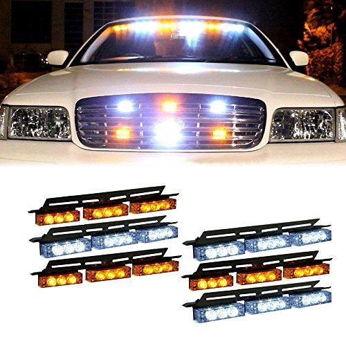 Car Truck Boat Emergency Van Flashing Modes 54-LED Strobe Light Lamp White - Van Mall Hours
