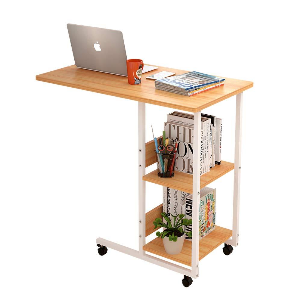 BYNNZDZ Scrivania da Comodino Scrivania Simple Bed Scrivania Simple Lazy Small Table Lato Rimovibile