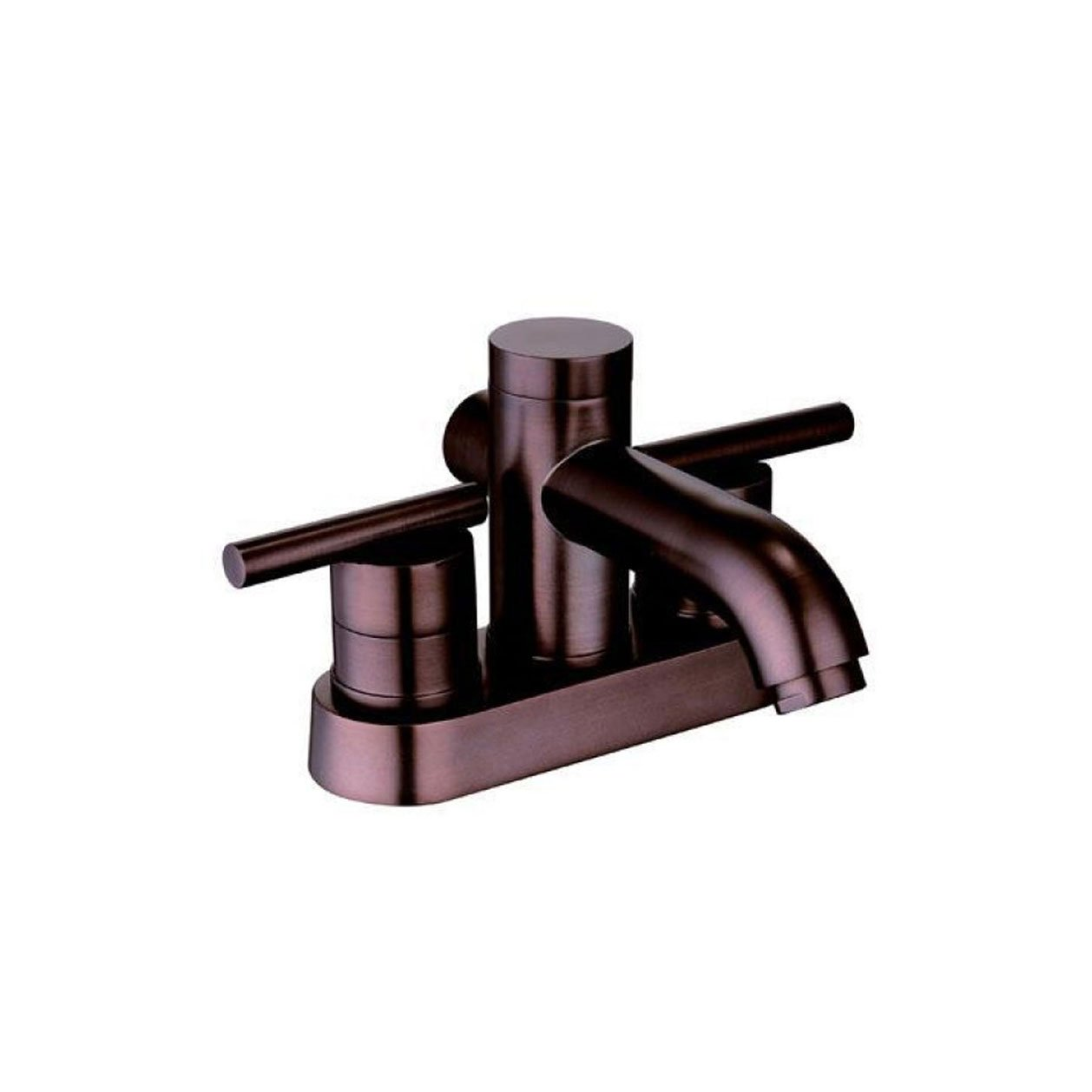 Yosemite Home Decor YP2812-ORB Two Handle Centerset Lavatory Faucet with Pop-Up Drain, Oil Rubbed Bronze