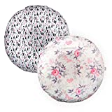 ALVABABY Lounger Water Resistant Removable Cover for Newborn Infant Lounger Unisex Portable Super Soft Fabric Wipeable Round Lounger 2 Pack 2LC02-CA