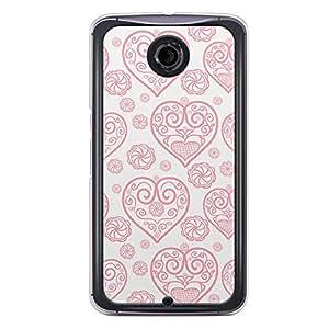 Loud Universe Nexus 6 2015 Love Valentine Printing Files A Valentine 165 Printed Transparent Edge Case - Off White/Red