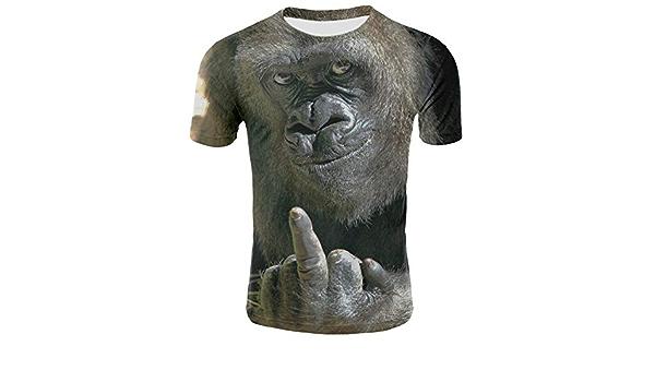 Hombres Niños Animal Orangután/Mono Camiseta con Estampado 3D ...