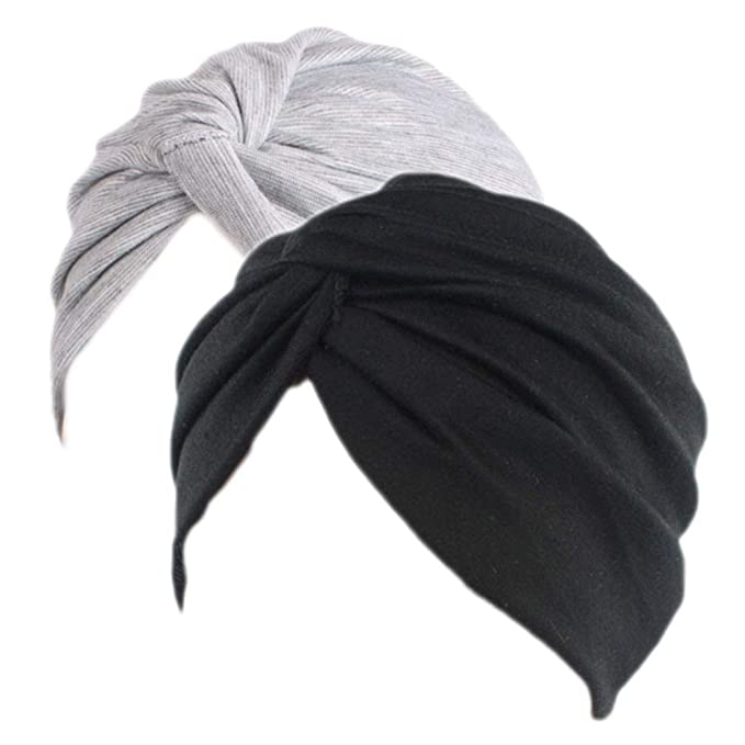 Sombrero Chemo de la Gorrita Tejida de algodón de Las Mujeres Casquillo  Suave del Abrigo de la Cabeza de la Gorra del Turbante de Slouchy para la  pérdida de ... 6741d595f5f