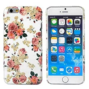 LCJ Mixed Color PC Printed Pattern Relief Case for iPhone 6