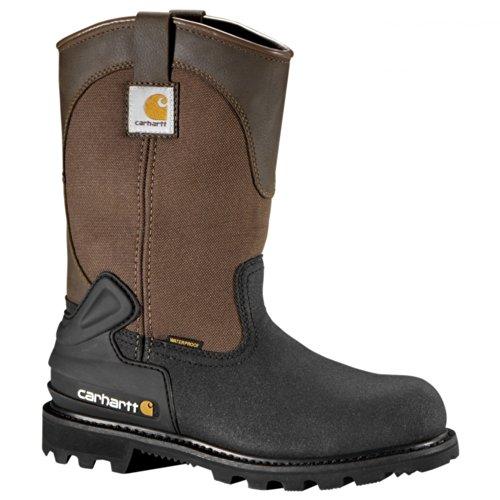 Carhartt Boots Mens 11 Inch CSA Wellington Steel Toe Brown / Black Leather tni48V
