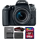 Canon EOS 77D 24.2MP Digital SLR Camera with 18-55mm IS STM Lens and 64GB Memory Card
