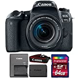 Canon EOS 77D 24.2MP Digital SLR Camera with 18-55mm IS STM Lens and 64GB Memory Card For Sale