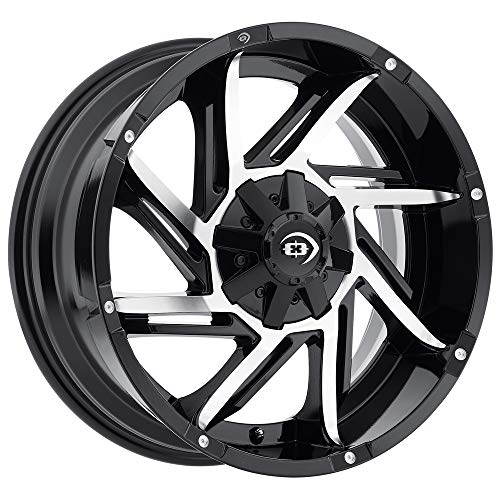Vision 422 Prowler Gloss Black Machined Face Wheel with Machined Finish (17x9