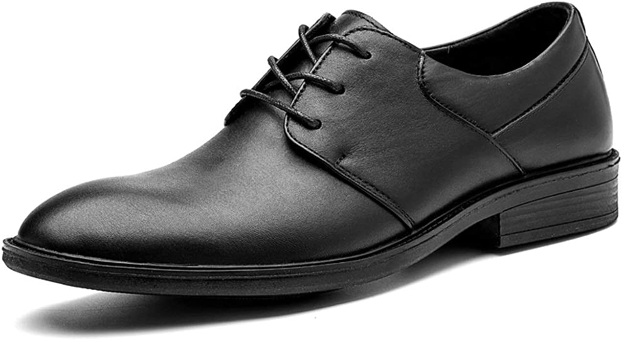 Mens Shoes Oxford Shoes for Men Fashion Formal Shoes Lace Up Microfiber Leather Texture Metaldecor Fashion