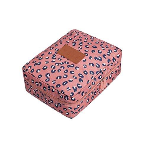 eDealMax Voyage maquillage cosmtiques de Toilette Trousse de Toilette de lavage Organisateur pochette de Rangement, Rose Leopard