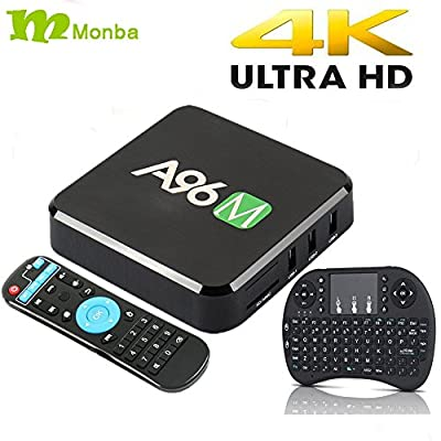 Monba A96M Android Mini PC RK 3229 Quad core CPU 1G/8G Wifi RJ45 4×USB port support 4K with Wireless keyboard