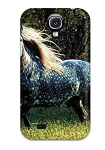 Hot CWMDMlt4544lkbmV Horse Tpu Case Cover Compatible With Galaxy S4