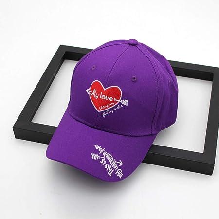 zhuzhuwen Sombrero Versión Coreana del Amor Simple Bordado Gorra ...