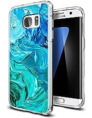 Verco Mobilskal för Samsung Galaxy S7 Edge, stötsäker stötfångare för Galaxy S7 Edge fodral silikon, bakre skal klar med motiv, målning