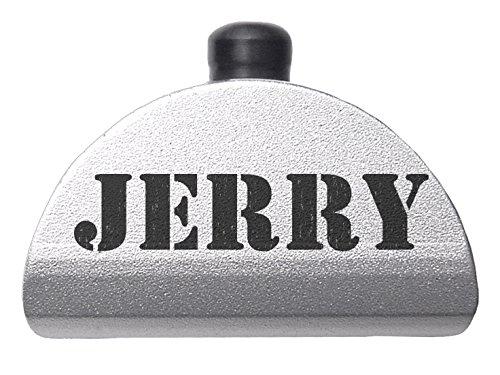 Aluminum Grip Frame Plug for Glock 17 19 20 21 22 23 24 31 32 34 35 37 38 GEN 1-3 (NDZ-AL1) Silver - Custom Laser Engraved Image: Names Jerry - By NDZ Performance -  NDZ-AL1-SIL-1077