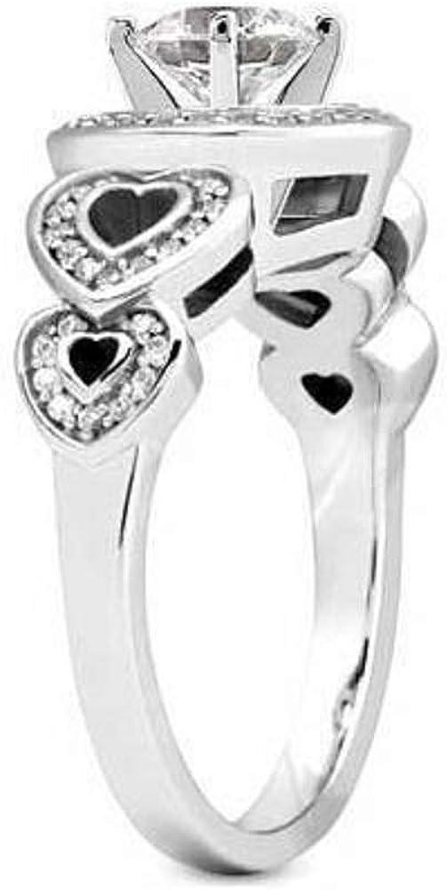 Eshita Fashionable 2.50Ct VVS1 Round Cut Diamond Engagement Wedding Art Deco Ring