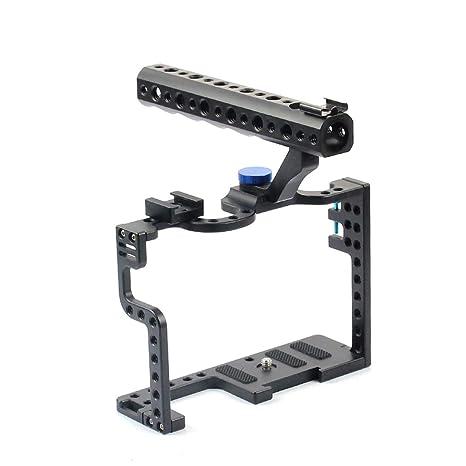 bgning aluminio Kit de jaula de cámara DSLR con empuñadura ...