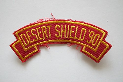 DESERT SHIELD '90 Word Tag Embroidery Sew On Applique Patch by ade_patch