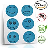 Comfort Road - Mosquito Repellent Patch 60 Count + 12 Patch Bonus Keeps Insects and Bugs Far Away, Simply Apply to Skin and Clothes , Adult, Kid and Pet-Friendly , Convenient For Travel, Outdoor Concerts and Camping