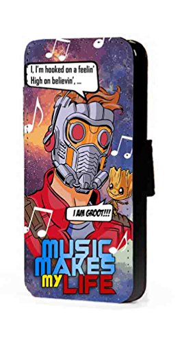 c riveras Guardians of The Galaxy Starlord Inspired Cartoon Phone case Fan Art Faux Leather flip Wallet Mobile Cover for Samsung Galaxy S3 (Cartoon Galaxy S3 Phone Flip Case)