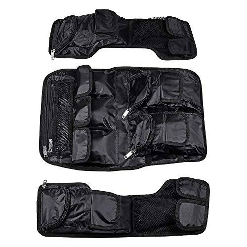 Nylon Bag + Fiber Net Black 2x Saddlebag + 1x Tour Pak Lid Organizer Compatible with 99-13 Harley Touring FLH FLT Models ()