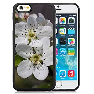 Fashionable Designed Cover Case For iPhone 6 4.7 Inch TPU With Pear Blossoms Flower Mobile Wallpaper 4 Phone Case