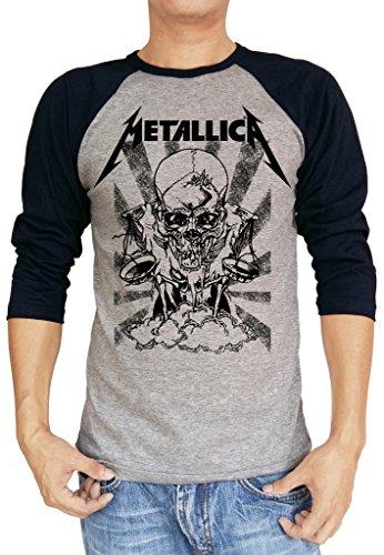 Metallica Pushead Boris Logo Baseball Raglan Shirt - S to XXL
