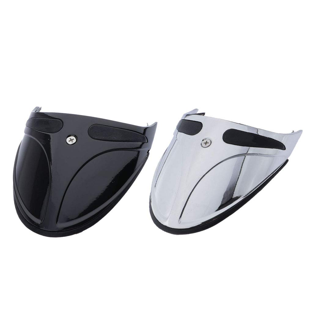 Silver Plastic Motorcycle Accent Accessory Front Fender Extender Cowl for Harley FXST XL FXDWG FXR