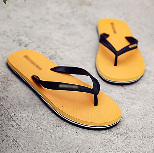 de Zapatillas personalidad de antideslizantes al sandalias playa verano aire masculinas de de tendencia de libre playa Amarillo rttxqO