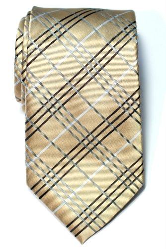 (Retreez Tartan Check Styles Woven Microfiber Men's Tie Necktie -)