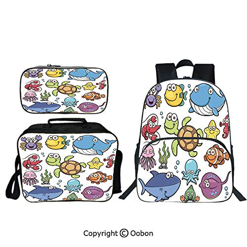 Oobon Kids Toddler School Waterproof 3D Cartoon 16