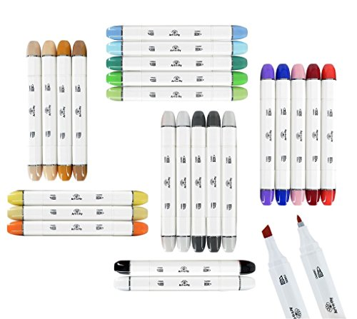 24 Professional Markers For Drawing Sketch Markers for Illustration Manga Markers With Blender Marker by Art-n-Fly