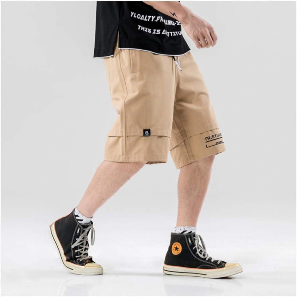 Short Harem Cargo Short Homme d'été Ruban latéral d'été Multi Poches Cargo Baggy Shorts Streetwear Hommes Hip Hop Casual Pantalon Court Pantalon Homme Shorts Khaki