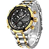 Tamlee Luxury Full Steel Analog Digital Watches...