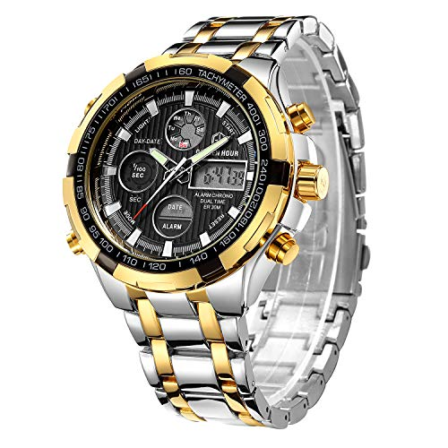 Tamlee Luxury Full Steel Analog Digital Watches Men Led Male...