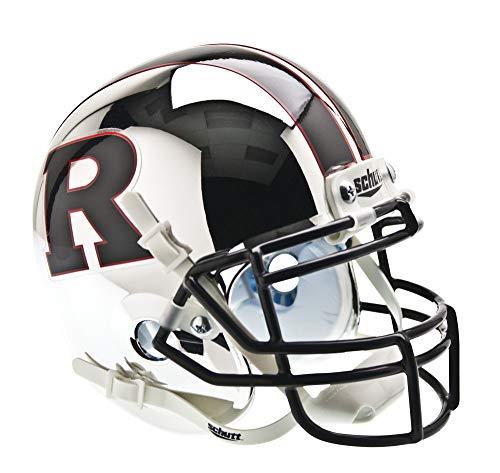 NCAA Rutgers Scarlet Knights Collectible Alt 5 Mini Helmet, Chrome Black