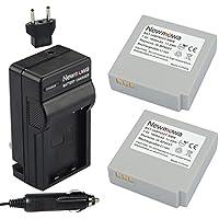 Newmowa IA-BP85ST Battery (2-Pack) and Charger kit for Samsung SC-HMX10 SC-HMX10A SC-HMX10C SC-HMX10P SC-HMX20 SC-HMX20C SC-MX10 SC-MX10A SC-MX10P SC-MX10R SC-MX20 SC-MX20B SC-MX20E SC-MX20EL