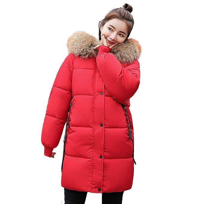 Winterjacke FORH Damen Lange Daunenjacke Mit Kapuze Winter Wärm Elegant Daunenmantel Steppjacke Parka Jacke Ultraleichte Hoodie gepolstert Coat mit