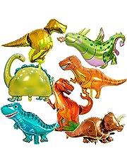 14 stuks dinosaurusfolie ballonnen, Hilloly dinosaurus verjaardag decoratie, mini dinosaurus ballon wandelen dier ballon decoratie aluminium dinosaurus ballonnen jungle ballonnen voor kinderen