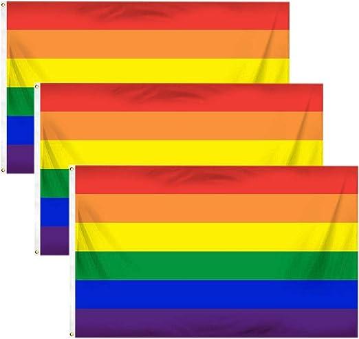 Bandera del arcoíris símbolo del colectivo de gays y lesbianas ...