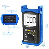 Digital Insulation Resistance Tester, AP-6688B Auto Range Megohmmeter 1999 Counts LCD Display 500/1000/2500/5000V Voltage,1MΩ~200GΩ Resistance Testing with Data Hold Backlit for Motor Cables Switches