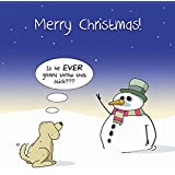 Funny grumpy offensive cat christmas card alternative xmas message twizler merry christmas card with snowman dog and stick happy christmas card xmas m4hsunfo