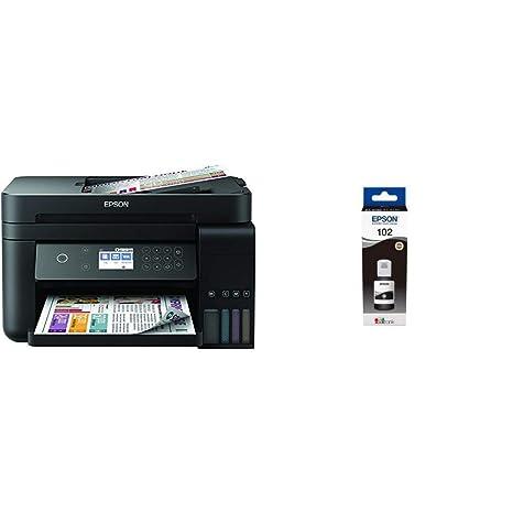 Epson EcoTank ET-3750 - Impresora, color negro + Cartucho negro + Cartucho Negro